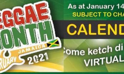 Reggae Month 2021 calendar