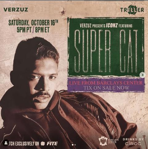 SUPERCAT -16 OTTOBRE - LIVE STREAMING SU VERZUZ TV
